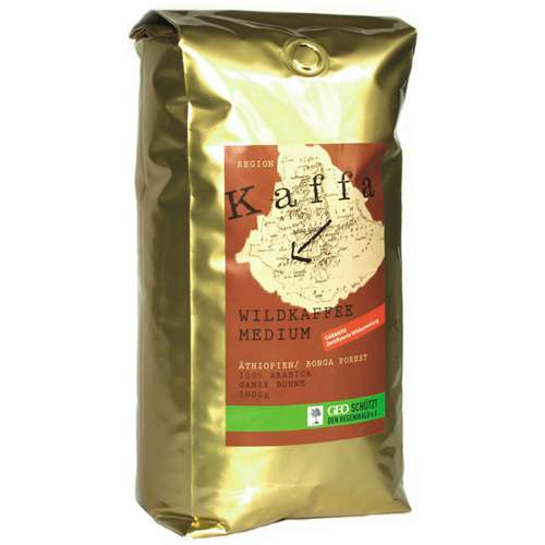 Kaffa Bio Wildkaffee Medium Bohne 1000 g