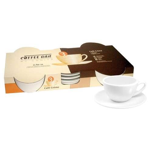 Könitz Cafe Creme 4er Set Tassen & Untertassen weiß 85 ml