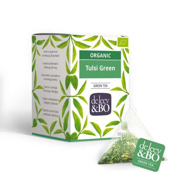 de Leev & Bo Bio Grüntee mit Tulsi Premium Teebeutel 15 x 2,5g