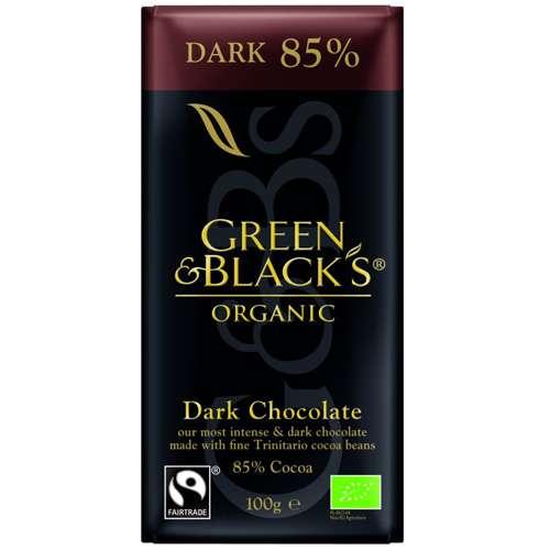 Green & Blacks Bio Fairtrade Zartbitterschokolade 85% 100 g