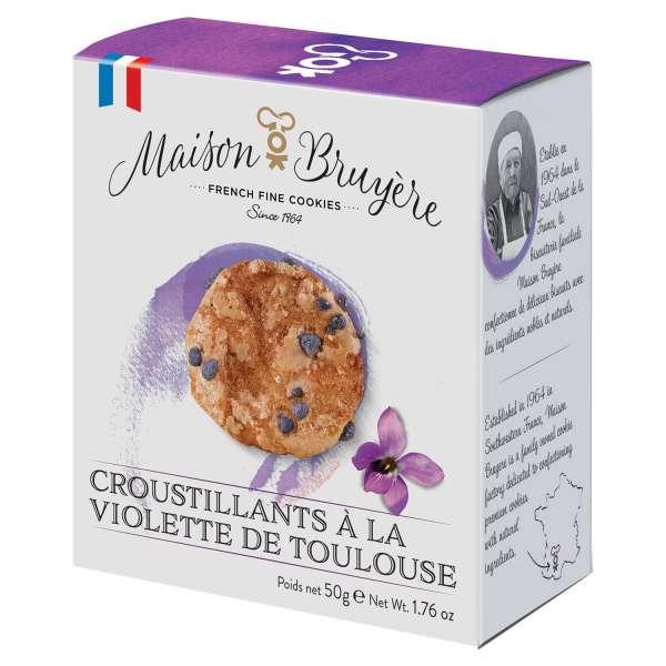 Maison Bruyere Veilchen Crisps aus Frankreich 50g