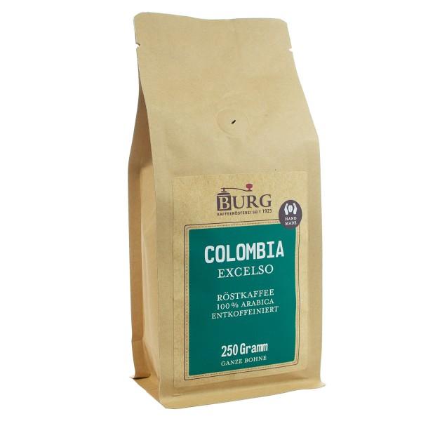 BURG Columbia Exselso Kaffee entkoffeiniert Bohne 250 g