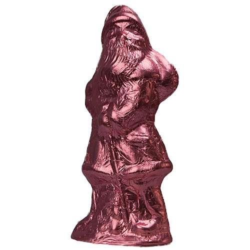 Weihnachtsmann aus Schokolade rosa 70 g