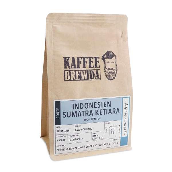 KaffeeBREWDA Indonesien Sumatra Ketiara 250 g gemahlen