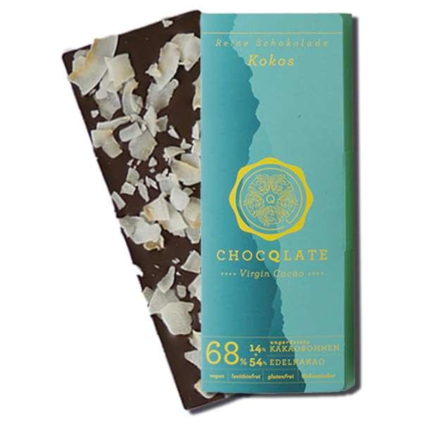 CHOCQLATE Virgin Cacao Bio Schokolade Kokos 75 g