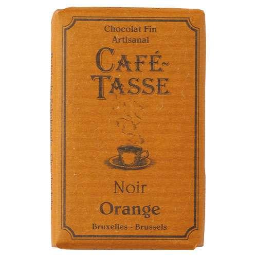 Café-Tasse Zartbitterschokolade Orange 10 Täfelchen á 9 g