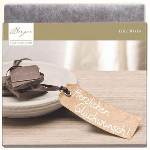 "Berger Schokolade Edelbitter ""Herzlichen Glückwunsch"" 90 g"