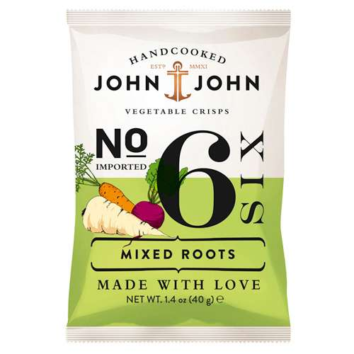 John & John Chips Mixed Roots 40 g