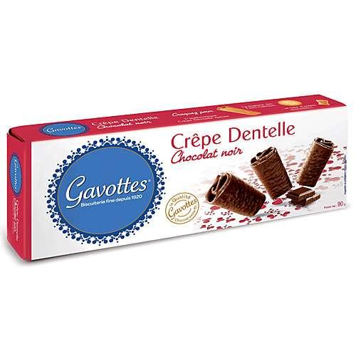 Gavottes Waffelröllchen in Zartbitterschokolade 90 g