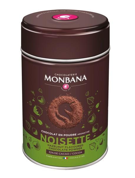Monbana Trinkschokolade Haselnuss Dose 250 g