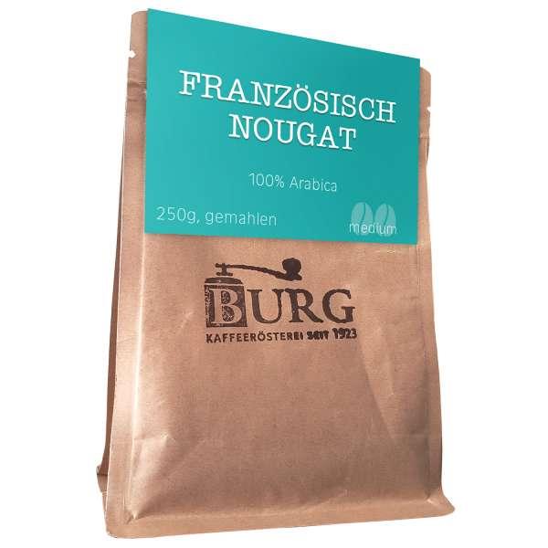 BURG Französisch Nougat Kaffee aromatisiert Bohne 250 g