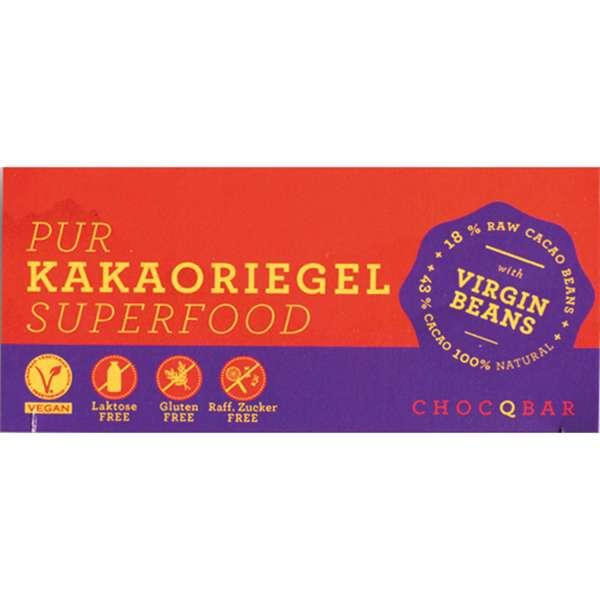CHOCQBAR BIO Superfood Kakaoriegel pur 35g