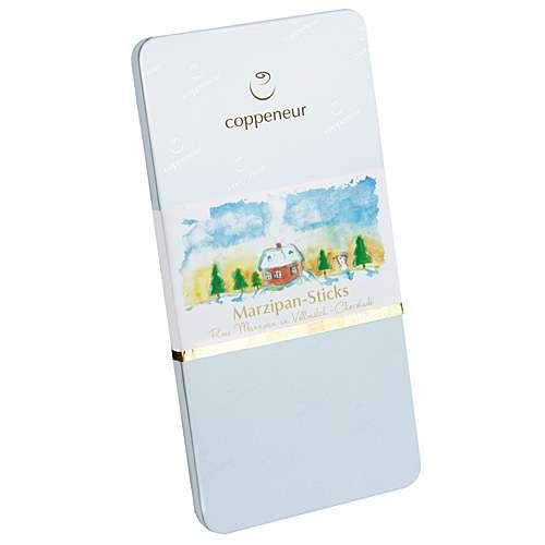 Coppeneur Marzipan-Sticks Vollmilch-Schokolade Blech-Etui 185 g