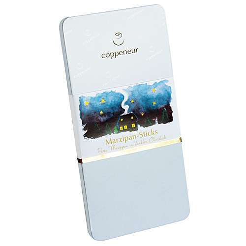 Coppeneur Marzipan-Sticks Dunkle Schokolade Blech-Etui 185 g