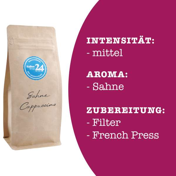 Sahne-Cappuccino Kaffee