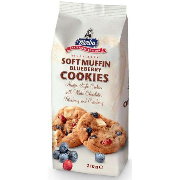 Merba Soft Muffin Blueberry Cookies 210 g