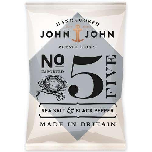 John & John Chips Sea Salt & Black Pepper 150 g