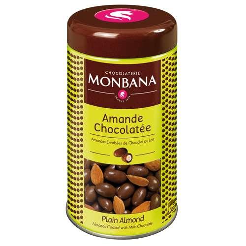 Monbana Mandeln mit Vollmilchschokolade Metalldose 180 g