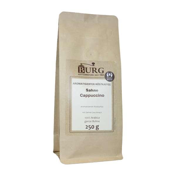 BURG Sahne Cappuccino Kaffee aromatisiert