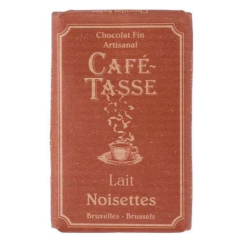 Café-Tasse Vollmilchschokolade Haselnuss 10 Täfelchen á 9 g