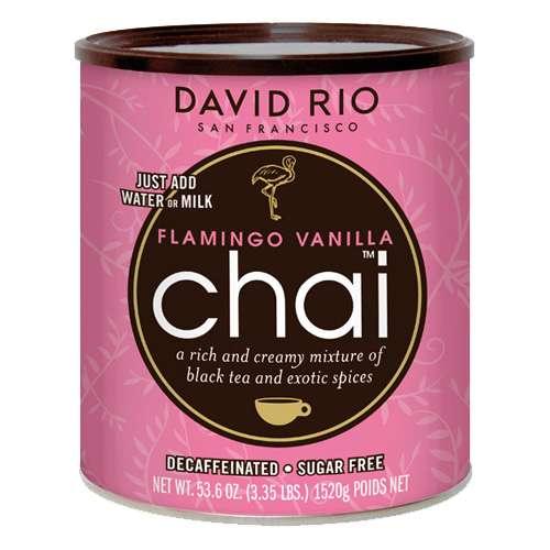 David Rio Flamingo Vanilla Decaf Chai zuckerfrei Gr. Dose 1520 g