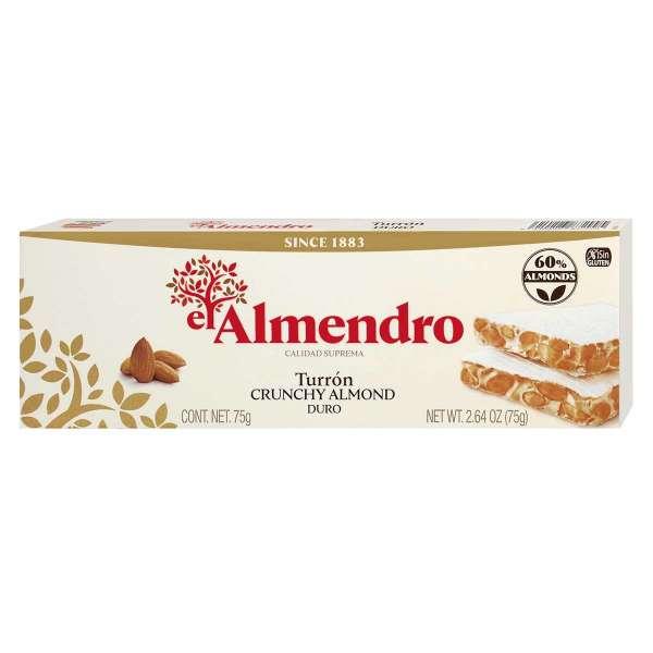 El Almendro Weißer Nougat mit gerösteten Mandeln 75 g