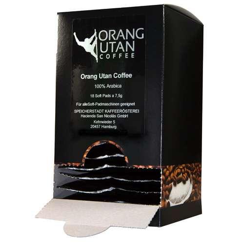 Orang-Utan Sumatra Arabica Kaffee Soft Pads 135 g
