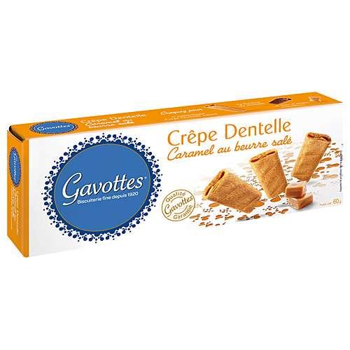 Gavottes Waffelröllchen mit Karamell und gesalzener Butter 60 g
