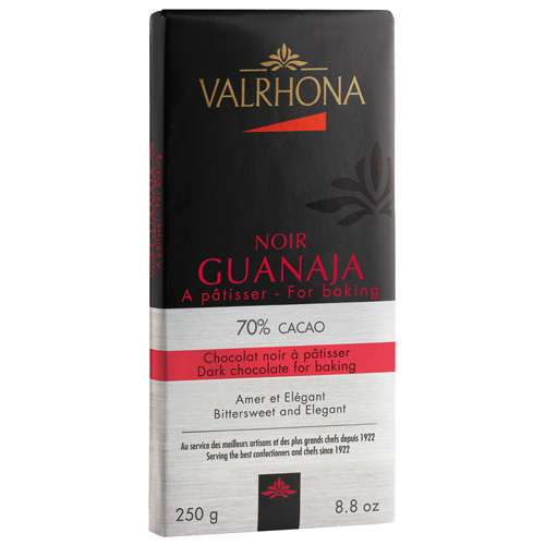 VALRHONA Dunkle Kuvertüre-Schokolade Noir Guanaja 70% 250 g