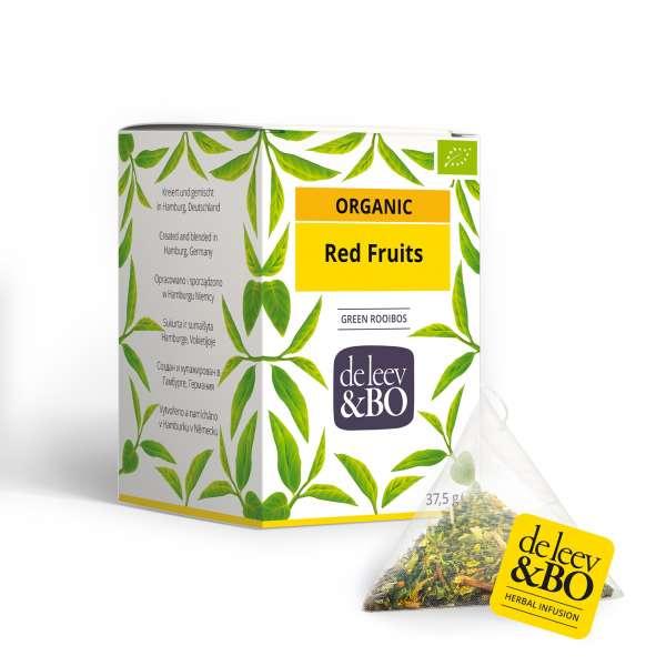 de Leev & Bo Bio Roiboos-Früchte-Tee Premium Teebeutel 15 x 2,5g