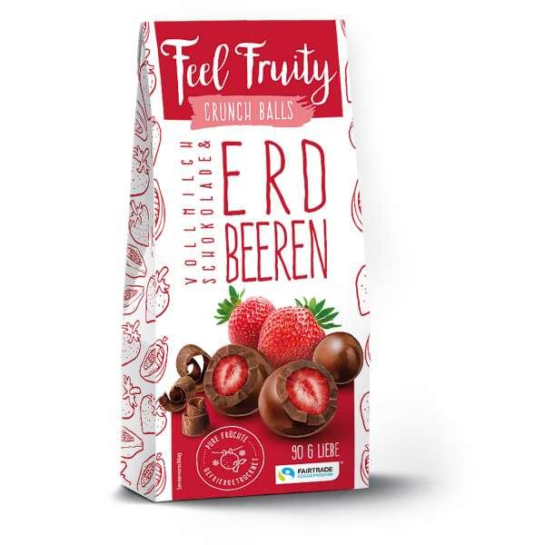 Feel Fruity Vollmilchschokolade & Erdbeere 90 g