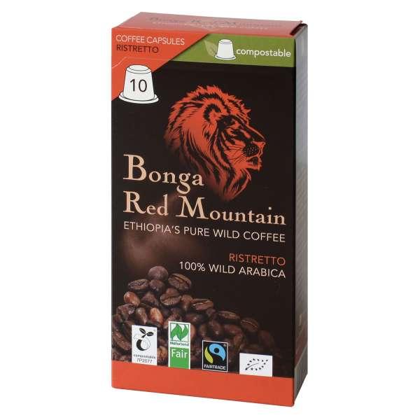 Bonga Red Mountain Ristretto kompostierbare Kapseln 55 g