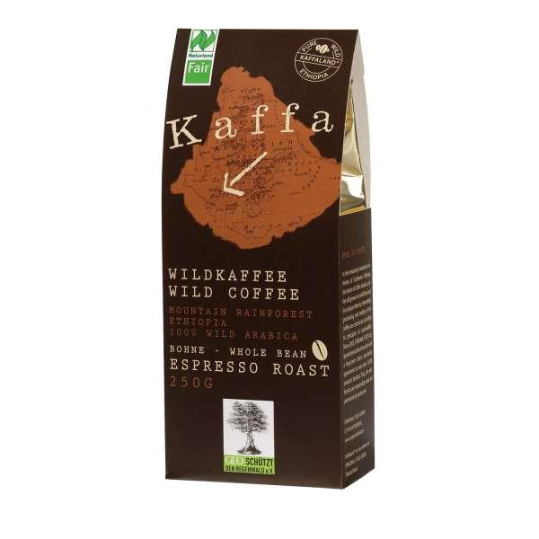 Kaffa Bio Wildkaffee Espresso Roast Bohne 250 g