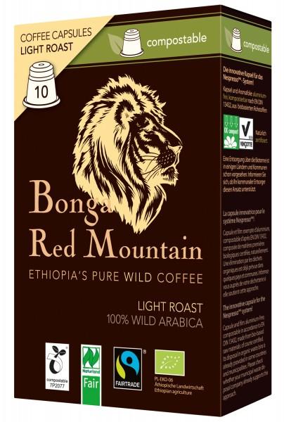 Bonga Red Mountain Light Roast kompostierbare Kapseln 55 g