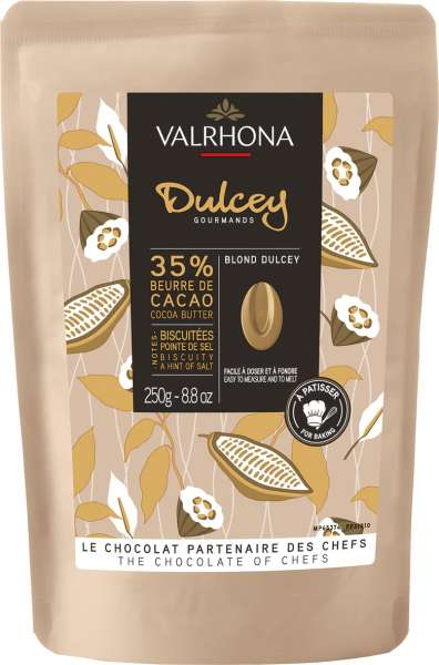 VALRHONA Weiße Schokolade Drops Blond Dulcey 32% 250 g