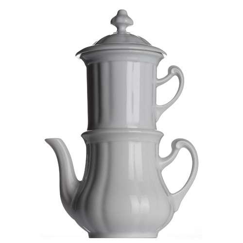 Walküre Karlsbader Kanne, Kaffeemaschine weiß 0,85 Liter