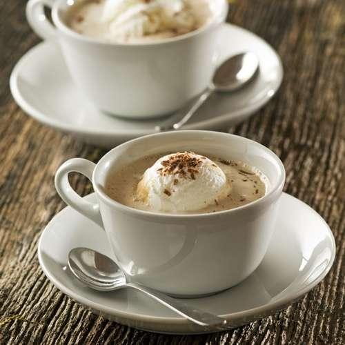 Weiße Schokolade Kaffee