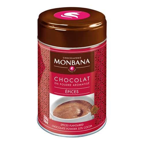 Monbana Trinkschokolade mit Gewürzen Dose 250 g