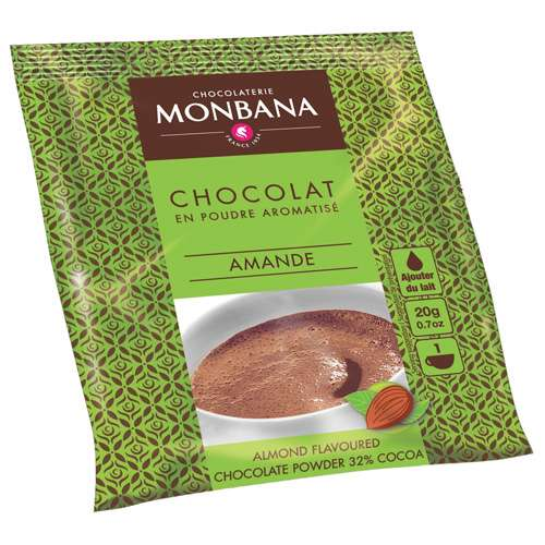 Monbana Trinkschokolade Mandel 10 x 20 g