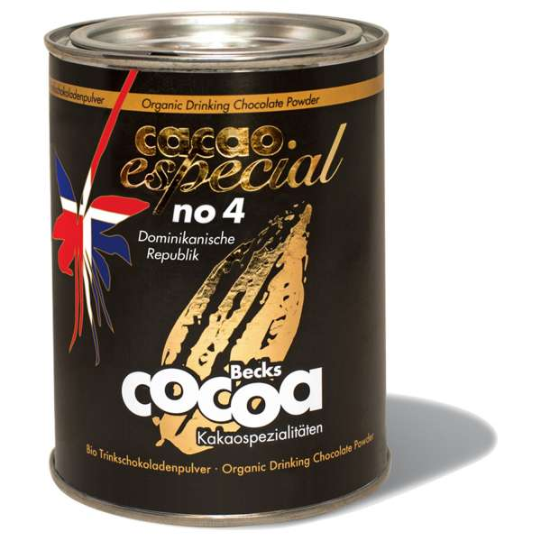 Becks Cocoa Trinkschokolade Bio Fairtrade Cacao Especial No4 Dominikanische Republik 250 g