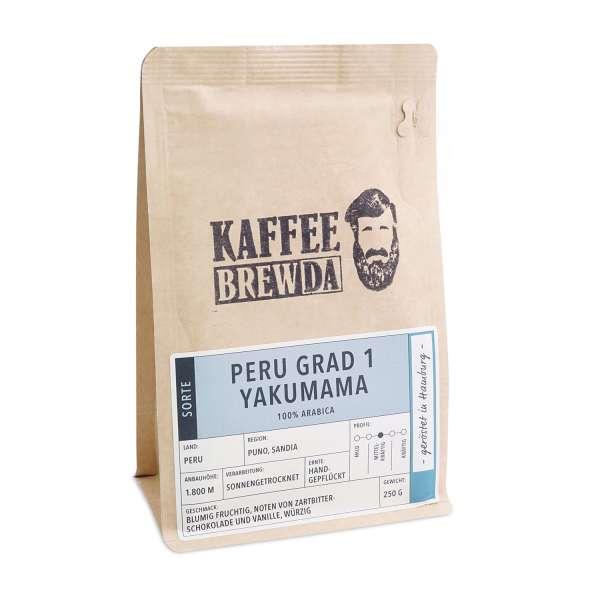 KaffeeBREWDA Peru Grad 1 Yakumama 250 g Bohne