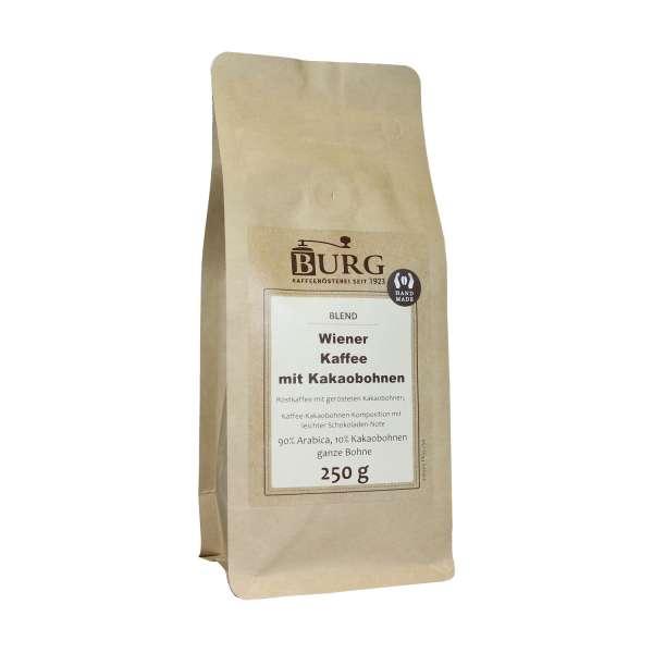 BURG Wiener Kaffee mit Kakaobohnen