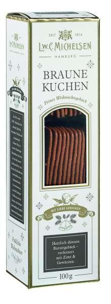 Braune Kuchen Weihnachtsgebäck von L.W.C Michelsen 100g