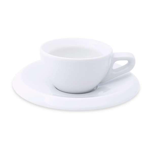 Walküre Espressotasse & Untertasse Serie rossi weiß