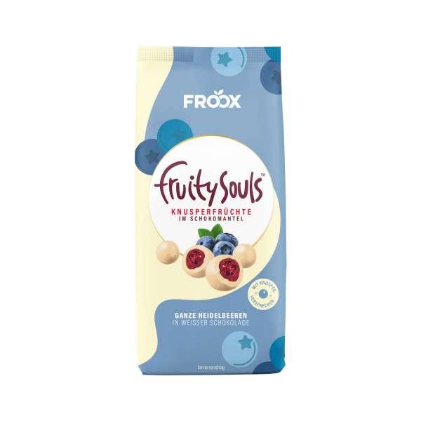 FruitySouls Ganze Heidelbeeren in weißer Schokolade 100g