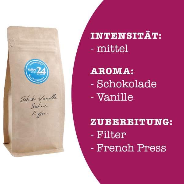 Schoko-Vanille-Sahne Kaffee