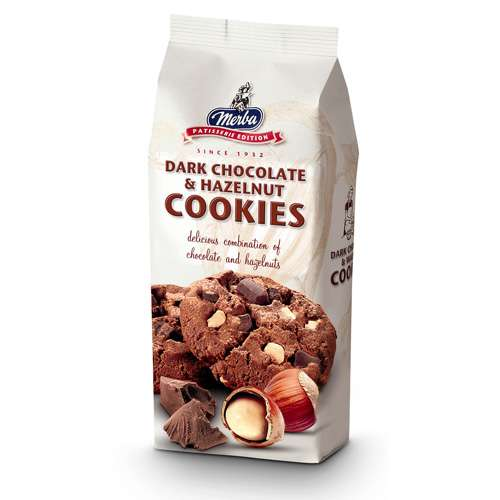 Merba Dark Chocolate & Hazelnut Cookies 200 g