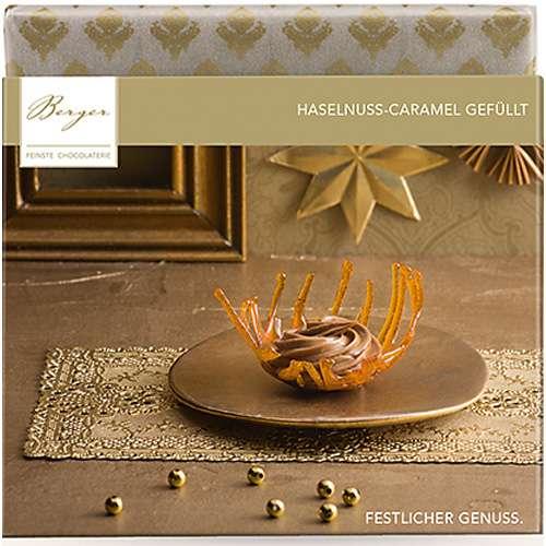 Berger Schokolade Haselnuss-Caramel gefüllt 100 g