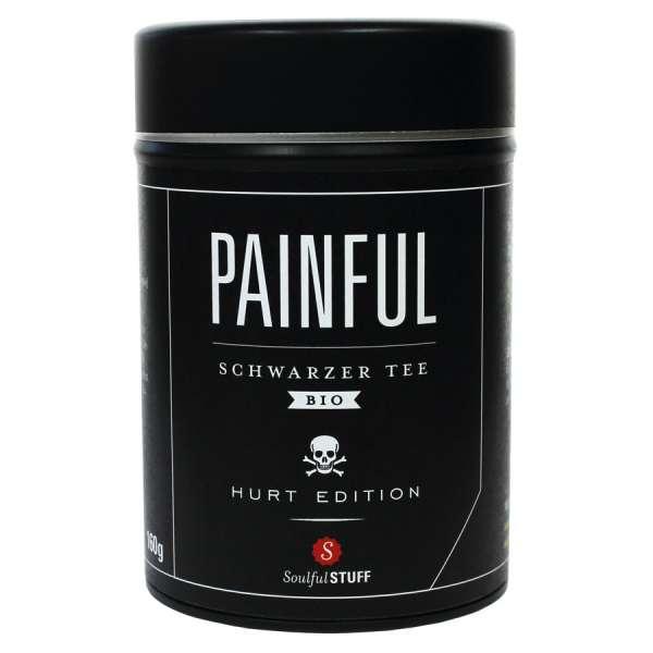 Soulful Stuff PAINFUL Schwarzer Bio Tee Dose 160 g