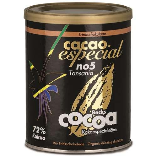 Becks Cocoa Trinkschokolade Bio Cacao Especial No5 Tansania 250 g